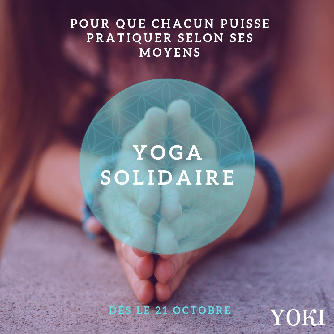 Yoga solidaire – Pour que chacun puisse pratiquer selon ses moyens