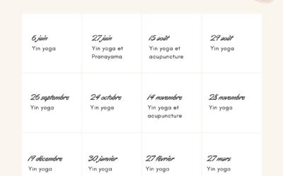 Les ateliers Yin yoga du samedi